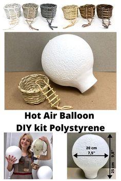 Balloon Crafts, Balloon Decorations, Baby Shower Decorations, Shower Centerpieces, Diy Hot Air Balloons, Plastic Balloons, Craft Kits, Diy Kits, Decor Crafts
