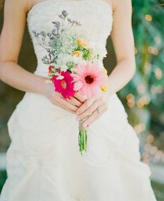 Wildflower Bouquet. Yep, this is my idea of the perfect natural but gorgeous wedding bouquet.