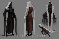 Robed Assassin, Tyler Ryan on ArtStation at https://artstation.com/artwork/robed-assassin