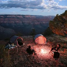 Camping with a view Camping And Hiking, Camping Life, Outdoor Life, Outdoor Camping, Adventure Awaits, Adventure Travel, Camping Sauvage, The Great Outdoors, Trekking