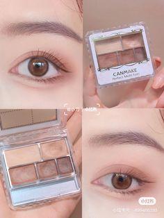 J Makeup, Peach Makeup, Eye Makeup Art, Body Makeup, Skin Makeup, Makeup Cosmetics, Korean Natural Makeup, Korean Eye Makeup, Make Up Kits