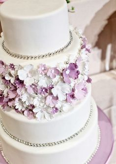 Abigail's wedding cake had over 2000 handmade violets on it......absolutely beautiful....thank you Linda Kelsey and Martha Lushina! Lilac Wedding, Dream Wedding, Our Wedding, Floral Cake, Perfect Wedding, Beautiful Wedding Cakes, Beautiful Cakes, Wedding Cake Designs, Wedding Themes
