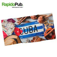 Pour la plage en été, voici une belle serviette en microfibre personnalisable à vos couleurs ou avec le visuel de votre choix ! 🌞 Cuba, Microfibre, Voici, Candy, Food, Weights, Towels, The Beach, Colors