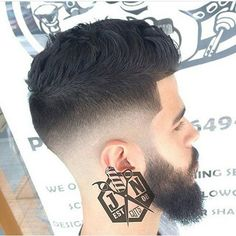 men's+tapered+haircut+with+a+beard+