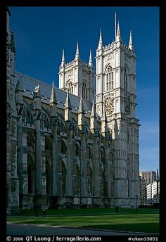Westminster Abbey from the side, morning. London, England, United Kingdom