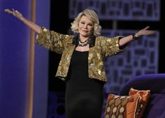 "Joan Rivers, the ""Can we talk?""Comedy Legend and TV Host, Dies at 81 today, Sept. 4, 2014.  RIP and say 'Can we talk!"" to Johnny now!"