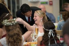 The Importance of Laughter: Reception photos are all about the bride and groom letting loose and enjoying your day!