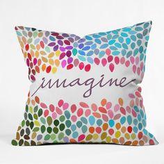 Garima Dhawan Imagine 1 Throw Pillow/DENY  -in collaboration with Anna Carol/Galaxy Eyes