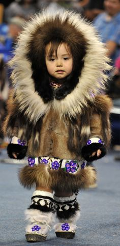 Inupiat girl at World Eskimo-Indian Olympics (WEIO) 2012 in Fairbanks