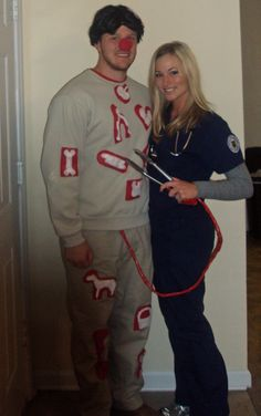 halloween costume (operation man and surgeon) PERFECT!