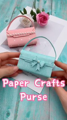 Cool Paper Crafts, Paper Crafts Origami, Diy Paper, Paper Craft Work, Paper Gifts, Diy Crafts Hacks, Diy Crafts For Gifts, Creative Crafts, Summer Crafts