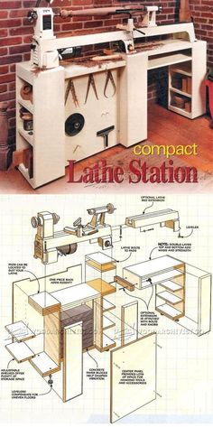 Wood Lathe Stand Plans - Lathe Tips, Jigs and Fixtures | WoodArchivist.com