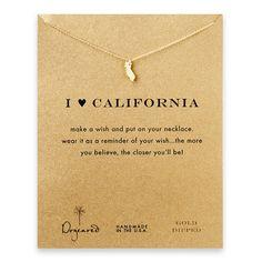 I <3 California necklace.