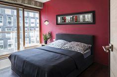 #Chambre de style #transitionnel avec #suspendusimple et #encadrement. / #Transitional #bedroom with #singlependant and #framework.