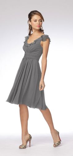 Shop Wtoo Bridesmaid Dress - 916 in Crinkle Chiffon at Weddington Way. Find the perfect made-to-order bridesmaid dresses for your bridal party in your favorite color, style and fabric at Weddington Way. Cute Wedding Dress, Fall Wedding Dresses, Colored Wedding Dresses, Summer Wedding, Wedding Black, Perfect Wedding, Wedding Colors, Black Bridesmaids, Black Bridesmaid Dresses