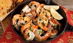 Sizzling Shrimp with Grilled Tomato Toast - In the Kitchen with Stefano Faita (make toast with gluten free bread) Spicy Dishes, Shrimp Dishes, Savoury Dishes, Seafood Recipes, Snack Recipes, Cooking Recipes, Healthy Recipes, Free Recipes, Tapas