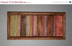 SALE Abstract Painting on Wood Reclaimed Wood Sculpture Wall Art Modern