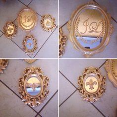 Quadros de resina espelhado