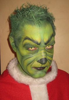 youre a mean one mr grinch amazing facepaint for halloween - Baby Grinch Halloween Costume