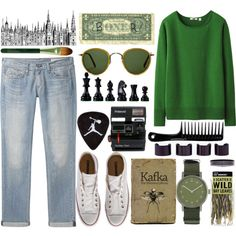 WILD by ines-madrid on Polyvore featuring Uniqlo, rag & bone/JEAN, Converse, Void, Maison Margiela, Oliver Peoples, Origins, Polaroid and Carmex