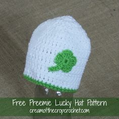 Are you getting ready for St. Patrick's day? Make this hat as a finishing touch to all of your St. Patrick's day fun! Share your finished projects on our Facebook Page! Come back tomorrow for another pattern.