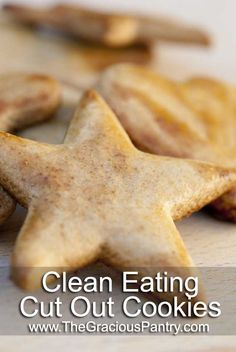 Clean Eating Cut Out Cookies Ingredients: 1 cup whole wheat pastry flour + extra on reserve 1 tsp. cinnamon 1 egg we can do that Cut Out Cookie Recipe, Cut Out Cookies, Cookie Recipes, Low Sugar Cookies, Cookie Ideas, Clean Eating Sweets, Healthy Eating, Eating Clean, Healthy Sweets