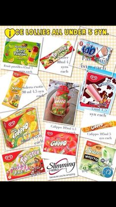 Syns for slimming world ice cream and ice pop astuce recette minceur girl world world recipes world snacks Slimming World Sweets, Slimming World Syns List, Slimming World Puddings, Slimming World Syn Values, Slimming World Free, Slimming World Recipes Syn Free, Slimming Eats, Low Syn Treats, Syn Free Food