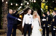 How sweet - Memorial Day wedding inspiration from real military couples!