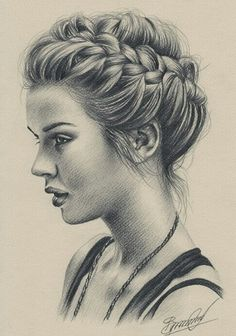 weheartit.com | Amazing girl drawing, specially hair!