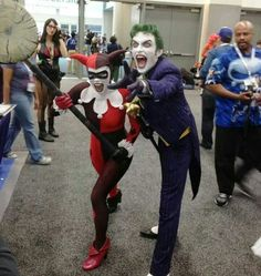 Awesome Joker and Harley Quinn cosplay! Epic Cosplay, Cosplay Outfits, Cosplay Costumes, Harley Quinn Cosplay, Joker And Harley Quinn, Anthony Misiano, The Man Who Laughs, Harely Quinn, Costume Craze