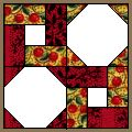 Octagon and Twist Quilt Pattern. Free PDF download. Also called Round the Twist. A Celtic Twist pattern. Snowball corners and partial seam strips around a center square.
