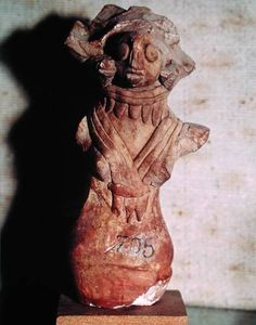 Image:  Harappan - Figure of a Mother Goddess, from the Indus Valley, Pakistan