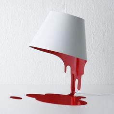 liquid lamp (Red/White) by Kyouei design