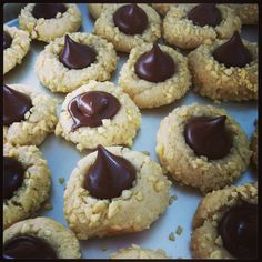 Almonds cookies and Hershy's Kisses