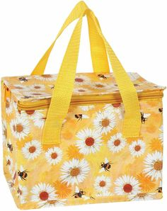 DAISY & BEE FLORAL Flowers Bees Cool Bag MINI Lunch Bag Lunchbox Cooler SMALL   eBay Travel Lunches, Cooler Box, Floral Flowers, Home Gifts, Fashion Bags, Bees, Daisy, Lunch Box, Tote Bag