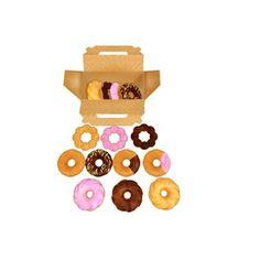 ポン・デ・リングやフレンチクルーラーなどのドーナツと紙箱のセットです。すべてかじりモーフ付き 大きい画像はこちら http://seiga.nicovideo.jp/se...