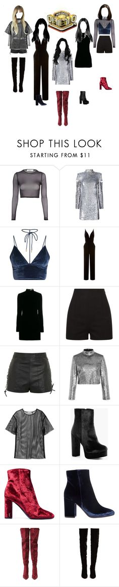 """""""《 COMEBACK STAGE 》 Inkigayo : Black Swan_HIde and Seek"""" by chloeemylee-xxi ❤ liked on Polyvore featuring Oh My Love, Helmut Lang, La Mania, Yves Saint Laurent, La Perla, Topshop, A.L.C., Boohoo, Gianvito Rossi and Cape Robbin"""