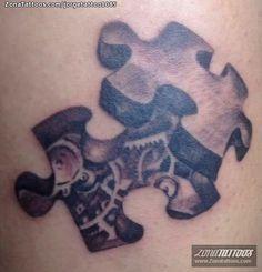 Tatuaje hecho por Jorge, de Caracas (Venezuela). Si quieres ponerte en contacto con él para un tatuaje o ver más trabajos suyos visita su perfil: http://www.zonatattoos.com/jorgetattoo1085    Si quieres ver más tatuajes de puzzles visita este otro enlace: http://www.zonatattoos.com/tatuaje.php?tatuaje=102901    #Tatuajes #Tattoos #Ink #Puzzles