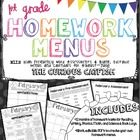 Look no further, the contents of this pack will fulfill all of your first grade homework wants, needs, and desires! The print and go Menu's are low...