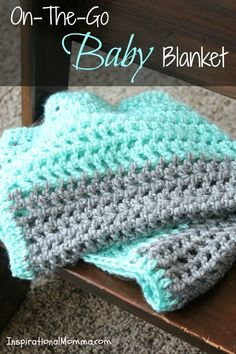 My On-The-Go Crochet Baby Blanket is easy to make and just the right size to take everywhere. This simple pattern is perfect for beginners!