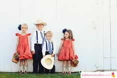 Beautiful barnyard wedding in this blog post.  I love these kiddos and the use of the coral and navy blue.