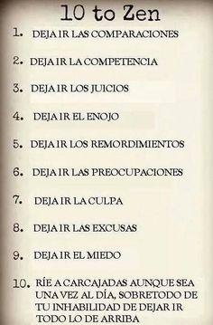 ^^ 10 reglas para tener una vida #zen :)
