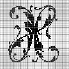 alphabet X leafy glade