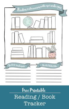 Free printable reading tracker for your planner or bullet journals