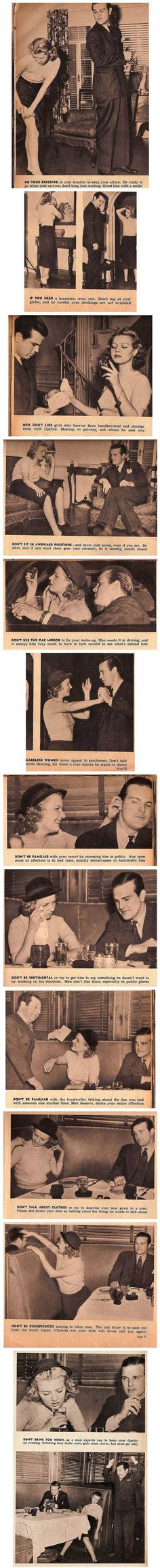 dating advice from the 1950s  Wow...I would have died alone in the 1950s.