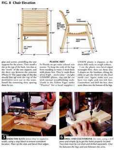 Patio Chair Plans - Outdoor Furniture Plans