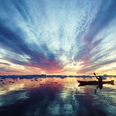 Directly from the charming historic center of Ilulissat, Greenland offers the possibility to do an activity that embraces all the wonders from this destination. In our Midnight Sun Kayaking you will paddle in a kayak (a Greenlandic typical mean of transpo Rafting, Kayak Lights, Kayak Accessories, Clothing Accessories, Kayaking Tips, River I, Inflatable Kayak, Kayak Adventures, Kayak Fishing