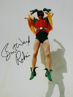 Burt Ward as Robin, Autographed photo Batman Cast, Batman Show, Batman Tv Series, Batman 1966, Im Batman, Batman Robin, Superman, Bat Girl, Bat Man