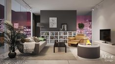 TV et cheminee-decorative-avec-bruleur-ethanol-design-rond http://www.a-fireplace.com/fr/bruleur-ethanol/