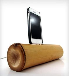 #DreamWeekender Bamboo Bluetooth iPhone 5 Speaker Dock by Dock Artisan on Scoutmob Shoppe